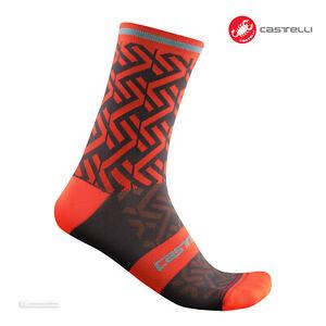 Castelli TIRAMOLLA 15 Cycling Socks : FIERY RED - One Pair