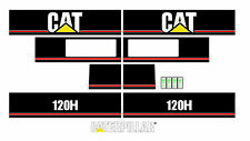 Caterpillar 120H Motor Grader Decal / Adhesive / Sticker Complete Set