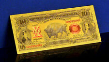 "★ BILLET POLYMER  "" OR "" DU 10 DOLLARS 1899 USA ● BISON BUFFALO ★ DESTOCKAGE ★"