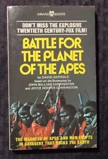 1973 Battle For The PLANET OF THE APES 1st Award Paperback VF- TV Tie-In