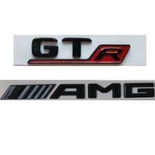 Gloss Black Trunk Badges Emblems Emblem Sticker for Mercedes Benz AMG GTR