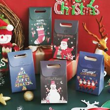 10 PCS Christmas Candy Gift Bags Cookie Bag Merry Christmas Guests Packaging Box