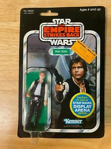 Vintage Star Wars ESB Han Solo Figure - 1981 Kenner 45-Back - Unopened MOC