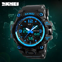 SKMEI Herrenuhr Casual Wasserdichte LED Quarz Analoge Digitaluhr Dual Time 1155B