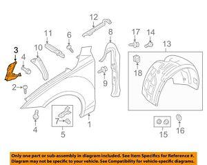 AUDI OEM 12-17 A7 Quattro Fender-Front Bracket Right 4G8821136D