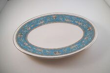 Vintage Empire China England Cambridge Oval Vegetable Dish Underplate Aqua Blue