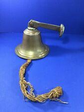 "Vintage, Nautical Ship Brass 6.5"" Bell w/ Brass Mount"