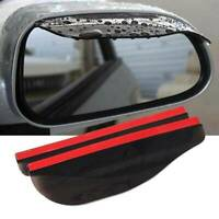 Car Accessories Rear View Side Mirror Visor Sun Rain Guard Protector Black Front