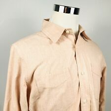 Jack Spade Mens Large Casual Button Front Shirt Pink 100% Cotton