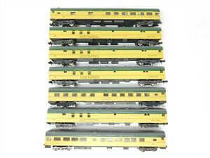 Lot of 7 N Scale Atlas / Rivarossi CNW Chicago North Western Passenger Cars