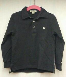 Burberry Children Black Long-Sleeve Polo Shirt Boys Size 3Y