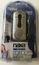 NAXA AM/FM Tuning Radio with Speaker #NR-721 Black Color NEW