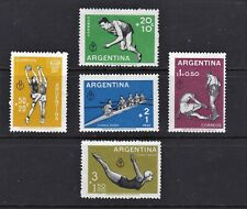 Argentina Postage Stamps 1959 Sports Set MNH Clean Fresh Set (5v).