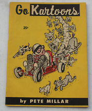RARE Vintage 1960 Go Kartoons by Peter Millar Go Kart Racing Comic Magazine Book
