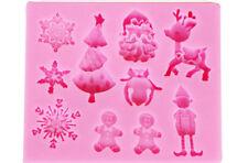 Molde De Silicona Navidad Pastel Hornear Chocolate Fondant Decoración Molde UW