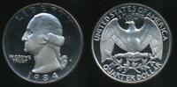 United States, 1984-S Quarter, 1/4 Dollar, Washington - Proof