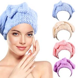 Crysly Bath Hair Drying Towels Microfiber Stripe Hair Wraps Absorbent Hair Sets
