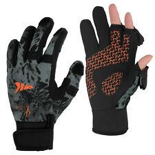 KastKing Mountain Mist Fishing Gloves Winter Gloves for Men&Women -Size Large