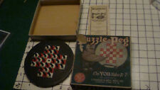 Vintage Original Puzzle/Game - PUZZLE PEG lubbers & bell mfg co. COMPLETE w INS