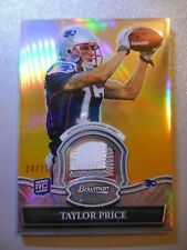 2010 Bowman Sterling Gold Refractor Jersey #/25 Taylor Price
