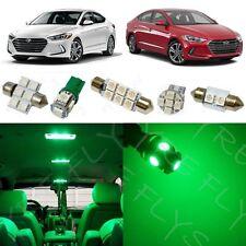 8x Green LED light interior package kit for 2017 & Up  Hyundai Elantra YE3G