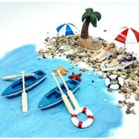 Blue WMH Dollhouse Fairy Garden Miniature Beach Seashell Wreath