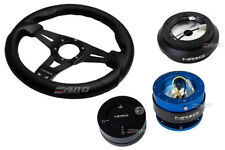 NRG 320 Sniper Steering Wheel Carbon Spoke/190 Hub/2.0 Blue Release/Lock Matt