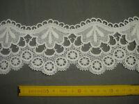 1,50 m dentelle ancienne blanche 10 cm largeur (réf Am 1)