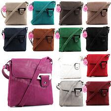 Ladies Soft Faux Leather Casual Messenger Satchel Shoulder Cross Body Bag