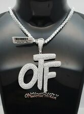 Genuine 925 Sterling Silver ONLY the FamiLy Letter CUSTOM HIP HOP CZ Charm Set