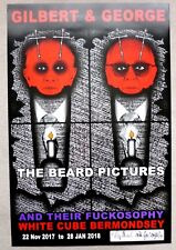 Gilbert and George - The Beard Pictures SIGNED 2017 ART EXHIBITION POSTER #3