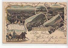 61757/23- Litho Gruß aus Hinterbrühl Bezirk Mödling Niederösterreich 1899