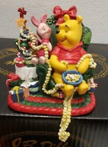 "1998 Xmas Stocking Hanger - Disney Winnie the Pooh ""Pooh"" Tree Decorating MINT!"