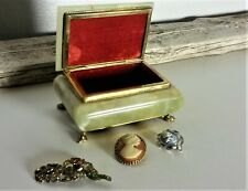 Banded Onyx Green/Brown Jewelry Box 5.5 x 4 x 2.5 Inches