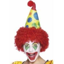 multicolor Payaso Sombrero con el Rojo Peluca divertido circo HOMBRE NIÑO