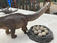 More details for rebor dinosaur sauropod and theropod egg nest model with papo apatosaurus