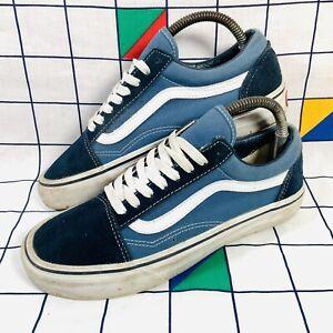 Original Vans Old Skool Lo Low Top Blue & Navy Shoes Trainers Size UK 6 EU 39