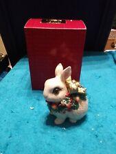 Fitz & Floyd Classics Snowy Woods Christmas Rabbit Box With Lid