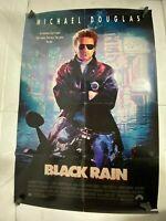 Vintage 80s Original Movie Ad Michael Douglas in Black Rain Poster One Sheet