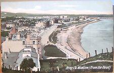 Irish Postcard BRAY from Bray Head View County Wicklow Dublin Ireland W Lawrence