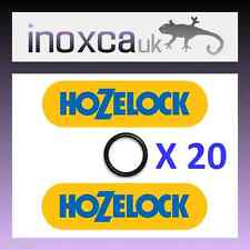 "20 HOZELOCK REPLACEMENT ""O"" RINGS RUBBER O-RING SEALS SPARES KIT HOSE PIPE JOINT"
