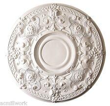 Ceiling Medallion Scallop 28 inch Primed White D570 Designer Edge Millwork round