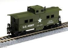 HO   SCALE  US ARMY  STEEL  CABOOSE  #726004 STEEL CABOOSE WW II ARMY CABOOSE