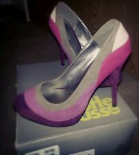 Charlotte Russe Womens Pink and Purple Combo Pumps, Size 7