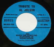 "John Lewis 7"" 45 EP Tribute To Al Jolson WALDORF JAZZ HEAR BONUS SELECTION"