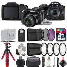 Canon PowerShot SX540 HS Digital Camera + 2 x Tripod  + EXT BAT + Filter - 16GB