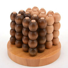Connect Four 4 3D Solid Wood Strategy Game Brain Teaser Wooden Puzzle Toy Medium