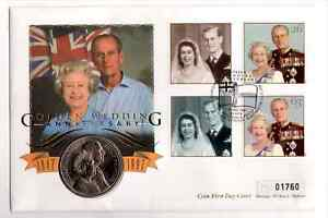Great Britain 1997 Golden Wedding Anniversary £5 Coin Cover (02)