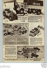 1965 PAPER AD Toy Truck Remco Fat Cat Marx Bruiser Mattel Gilbert Train-O-Rama