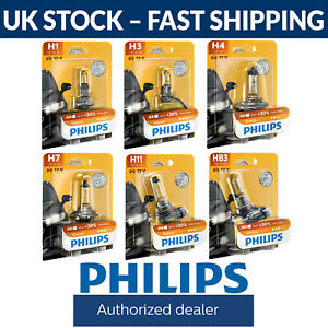 Philips Vision Car Headlight Bulbs (Single) H1 H3 H4 H7 H11 HB3